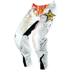 "30"" Kids Youth Rockstar Pants MX Motorbike BMX White Red Yellow $249.95"