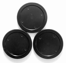 FASTER shipping 3pcs 75mm black round Air Hockey table Puck Arcade GAME 20g