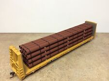 Flatcar primed pipe load Bnsf Up Csx Ns Kcs Cp Cn Load only. Ho