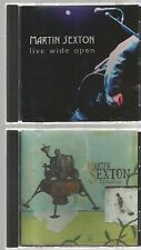 MARTIN SEXTON Live Wide Open + THE AMERICAN + 2 LIVE CD's 5 discs 1998 2002