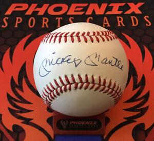 Mickey Mantle Signed Auto Official American League Baseball JSA LOA Yankees