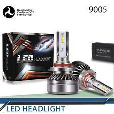 9005 HB3 LED Headlight Bulb Fanless 60W 6000K 12000LM CSP High Light KIT Pair X