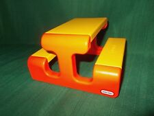 Vintage Little Tikes  Dollhouse furniture - orange and yellow picnic table