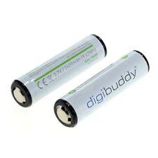 2x Akku 18650 mit 2600 mAh 3,7V 5A für Stirnlampe Boruit Akkus Batterie Accu LED