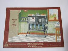 Wick Blue Flam Oil Cook Stove Standard Oil Co. Advertising Card  T*