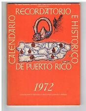 Recordatorio Y Calendario Historico De Puerto Rico 1972 First Federal Bank