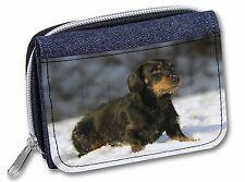 Long-Haired Dachshund Dog Girls/Ladies Denim Purse Wallet Christmas G, AD-DU35JW