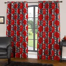 Unbranded Floral Faux Silk Curtains & Pelmets