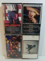 Cassette Tape Lot:Bruce Springsteen, The Cars, Jon Bon Jovi, Bryan Adams-4 tapes
