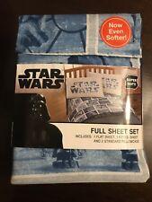 4 pc Disney Star Wars Full Sheet Set New In Package