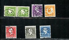 LOT 63198 246-251 DENMARK USED HANS CHRISTIAN ANDERSON 'S FAIRY TALES