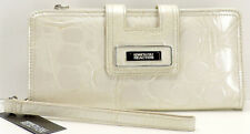 Kenneth Cole Reaction Tab Clutch Wristlet Wallet Vanilla New! NWT