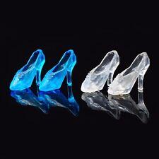 12 Pair Cute Barbie Doll Princess High Heel Dress Transparent Crystal Shoes Boot