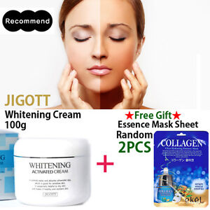 [JIGOTT] Whitening Activated Moisturizer Cream 100g Korea Cosmetic + Mask Sheet