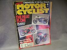 1984 Jan Motor Cyclist THE HEAT IS ON! Performance Tips Harley Triumph much more