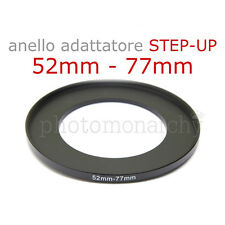 Anello STEP-UP adattatore da 52mm a 77mm filtro - STEP UP adapter ring 52 77 mm