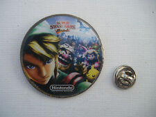 Nintendo Super SMASH BROS 2008 BIG Metal PIN BADGE Pins BLISTER PACK Mario Zelda