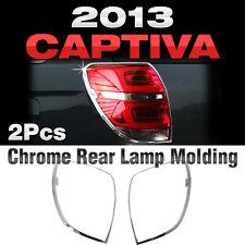 Chrome Rear Lamp Garnish Molding Trim Set For CHEVROLET 2013 2014 2015 Captiva