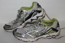 Mizuno Wave Inspire 6 Running Shoes, #410394-004, Silver/Neon, Women's US 10.5