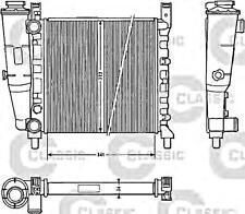 Engine Cooling Radiator VALEO Fits FIAT Uno Hatchback 1984-1995