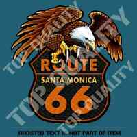 SANTA MONICA ROUTE 66 DECAL STICKER VINTAGE AMERICANA HOT ROD RAT ROD STICKERS