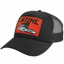 Stihl OLD SCHOOL Mesh Trucker Style Cap w/ Orange Chainsaw Stihl Patch