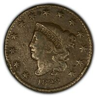 1828 1c Coronet Head Large Cent - Mint Error: 90 Rotated Die - Mid-Grade - Y2384