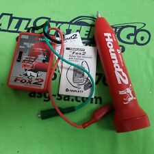 Triplett Cable Tracer Fox 2 and Hound Wire Tracing Probe Kit with Manuals & Case