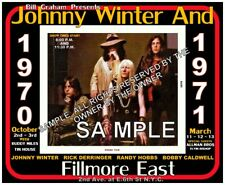 Johnny Winter And 8x10 Fillmore East The Concerts 8x10 March-Oct 1970-71