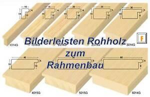 Bilderrahmenleisten NATUR FE - Als Meterware, Falzhöhe 10mm, Rohholz unbehandelt