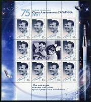 Russia-2009 75th anniversary of the cosmonaut Yuri Gagarin. Sheet 12€