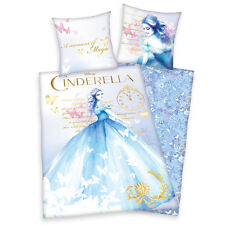 Cinderella Linon Disney Bed Linen Children Kids Cinderella 135x200 80x80 new