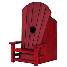Outside Inside Gifts Red Adirondack Chair Birdhouse