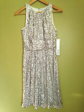 NWT Badgley Mischka Gorgeous Sequined Blush Pink Marilyn Party Dress 2 $462