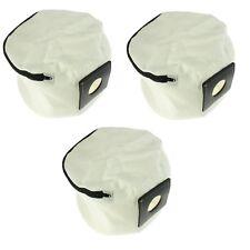 3 x Reißverschluss wiederverwendbar Staubsauber Staubbeutel für Numatic