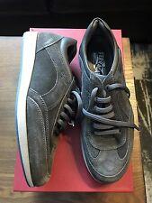 New Authentic Salvatore Ferragamo Gray Suede Lace Men Shoes Sneakers 7