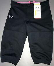 Under Armour Heatgear Closed Hem Semi-Fitted Softball Pants NWT Girl's S Black