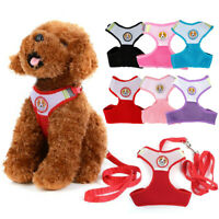 Small Dog Harness and Leash Breathable Mesh for Pet Puppy Cat Yorkie Pomeranian