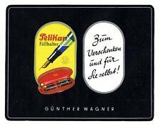 Pelikan Füller Reklame 1938 Werbung Füllfederhalter Günther Wagner