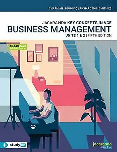 Jacaranda Key concepts in VCE Business Management. Units 1 & 2. 5th Edition Book