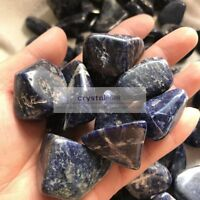 1/4lb 30-50mm 3-5pcs Natural Tumbled sodalite Crystal Bulk Stone Healing