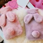 650 ML Hot-water Bottle with Plush Cloth Cover Hand Warmer Bag Winter Women Soft