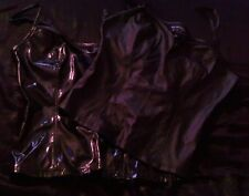 LIP SERVICE VICE BLACK L PVC and Faux leather corset tank tops