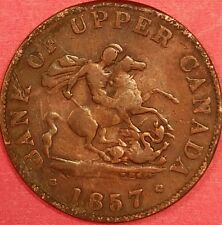1857 Bank of Upper Canada Half Penny   ID #88-45