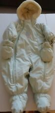 Gusti Baby Snowsuit Mint Light Green 12 months Unisex EUC