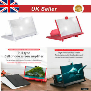 "12"" 3D HD Folding Adjustable Mobile Phone Screen Magnifier Amplifier Stand Brack"