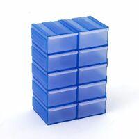 10 Schubladen Kleinteilemagazine Stapelboxen blau Aufbewahrung