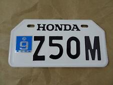 HONDA Z50M Z50 M  MONKEYBIKE MINIBIKE JAPANESE LICENSE PLATE  // NEW