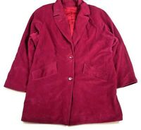 Juli De Roma Vintage Womens 16 Coat Fuchsia Purple Plush Velvet Velour 70s Retro