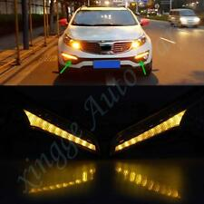 2PCS LED Daytime Running Light DRL Turn Signal Lamp for Kia Sportage 2011-2013